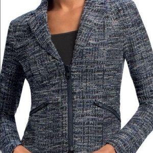 CAbi #723 Zip Up Mingle Tweed Blazer